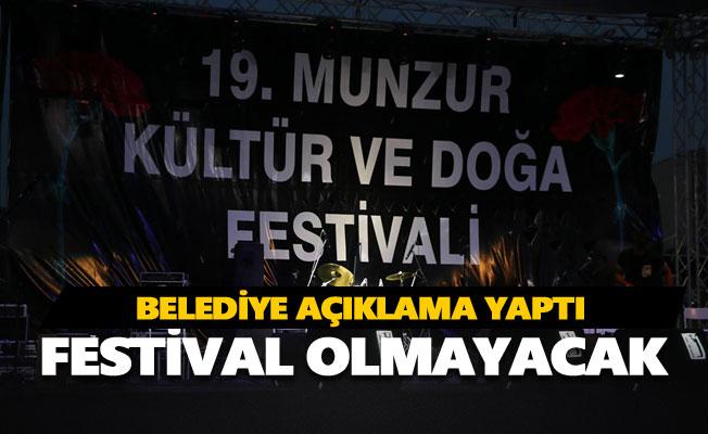 Bu yıl festival olmayacak
