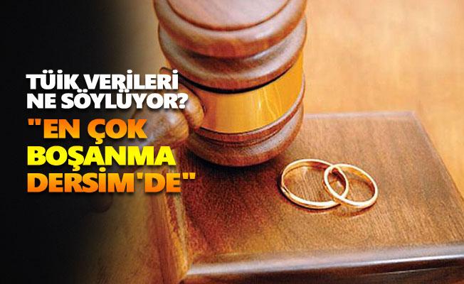 """""""En çok boşanma Dersim'de"""""""