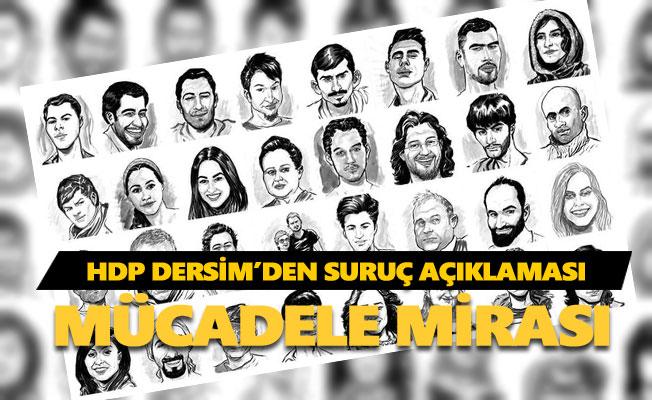 HDP Dersim'den suruç açıklaması