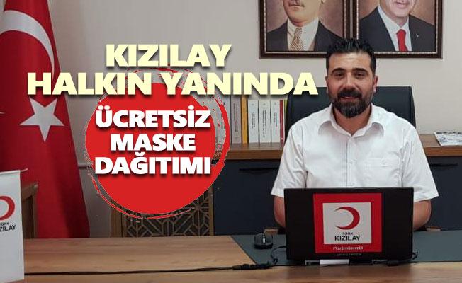 Kızılay Tunceli'den ücretsiz maske dağıtımı