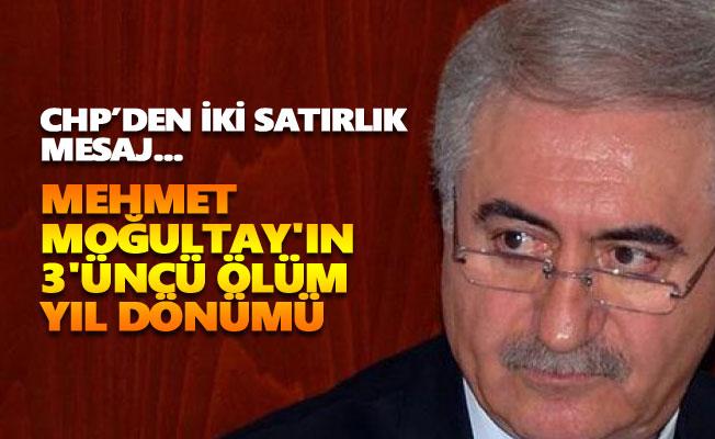 Mehmet Moğultay'ın 3'üncü ölüm yıl dönümü