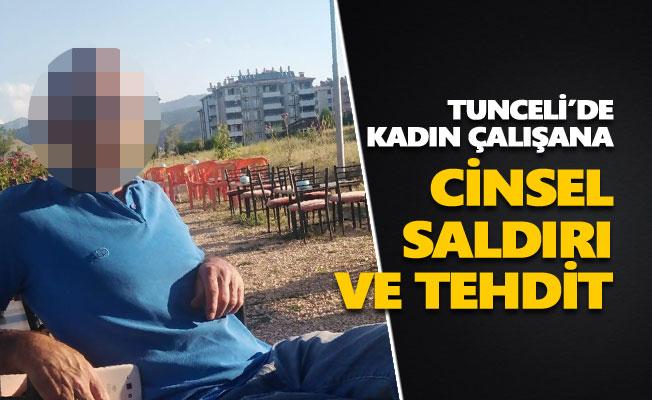 Tunceli'de kadın çalışana cinsel saldırı ve tehdit