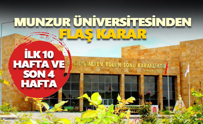 Munzur Üniversitesinden flaş karar