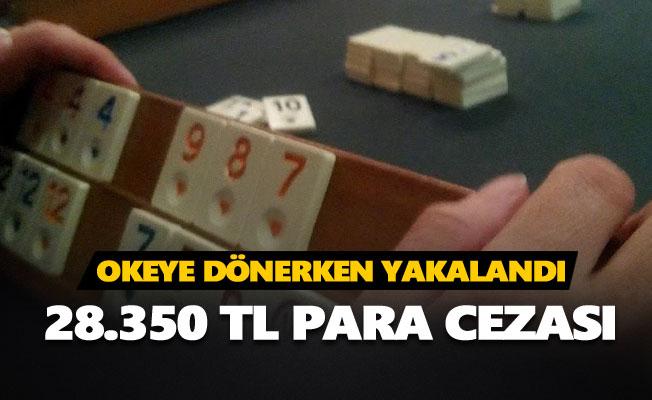 Tunceli'de kıraathanede okey oynayanlara 28.350 TL para cezası