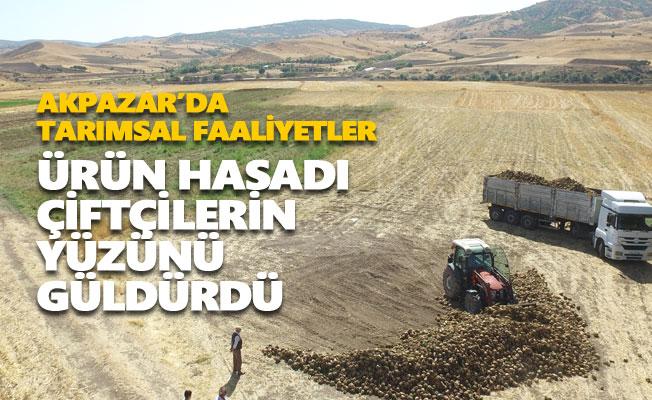 Akpazar'da ürün hasadı çiftçilerin yüzünü güldürdü