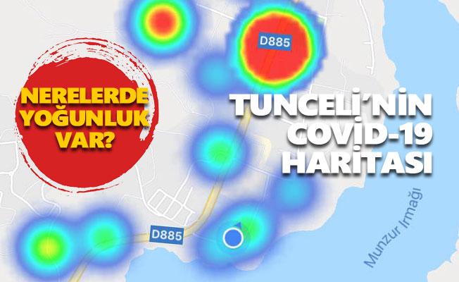 İşte Tunceli'nin Covid-19 haritası