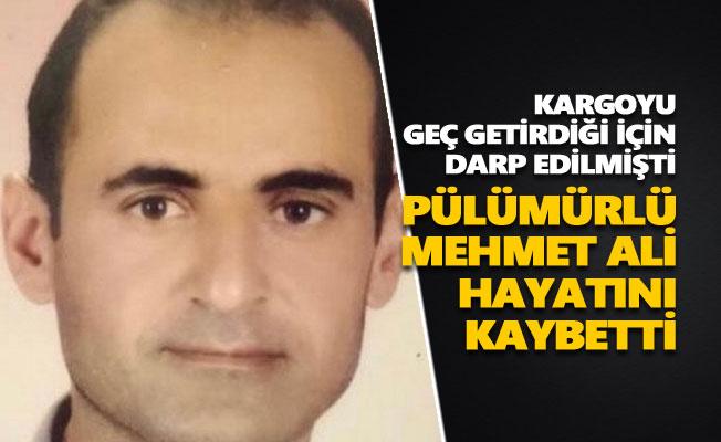 Pülümürlü Mehmet Ali İbin hayatını kaybetti