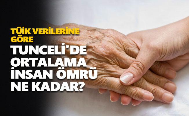 Tunceli'de ortalama insan ömrü ne kadar?