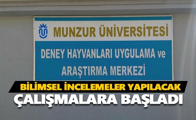 Tunceli'de 'Deney Hayvanları Araştırma Merkezi' kuruldu