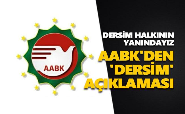 AABK'den 'Dersim' açıklaması