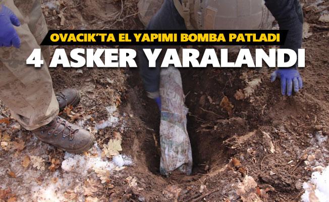 Ovacık'ta 4 asker yaralandı