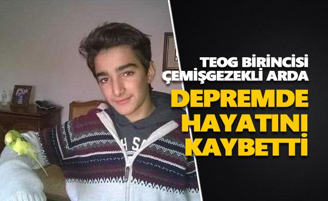 TEOG birincisi Çemişgezekli Arda Baran Demir depremde hayatını kaybetti