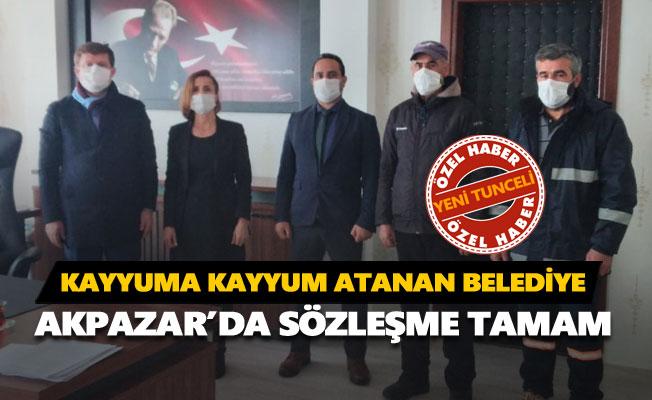Akpazar Belediyesinde sözleşme imzalandı