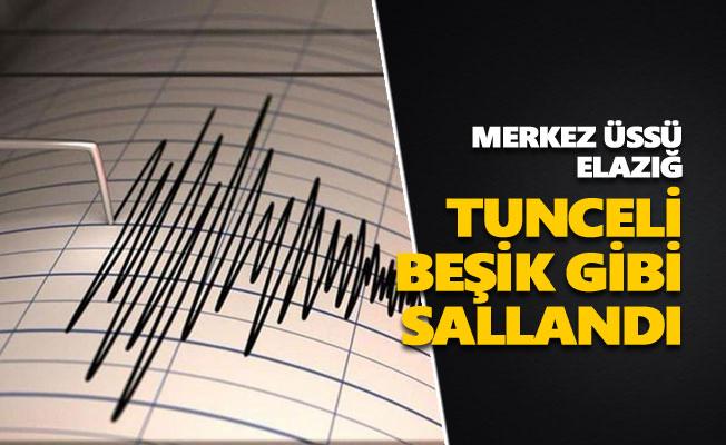 Elazığ'daki deprem Tunceli'yi de salladı!
