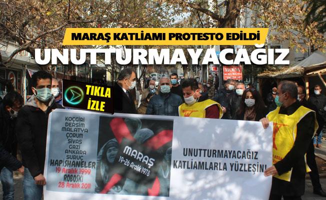 Maraş Katliamı protesto edildi