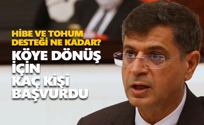 Şaroğlu, Tunceli'ye verilen tarımsal destekleri sordu