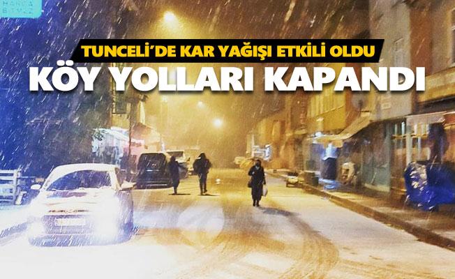 Tunceli'de 50'den fazla köy koyu ulaşıma kapandı