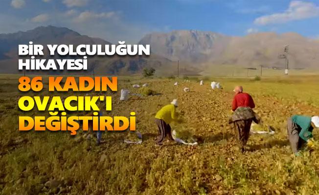 86 kadın Ovacık'ı değiştirdi