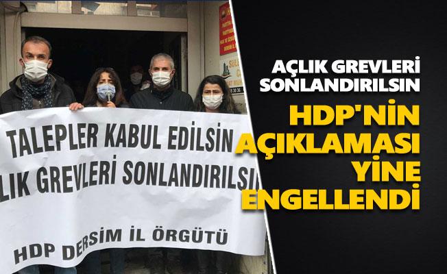 HDP'nin açıklaması yine engellendi