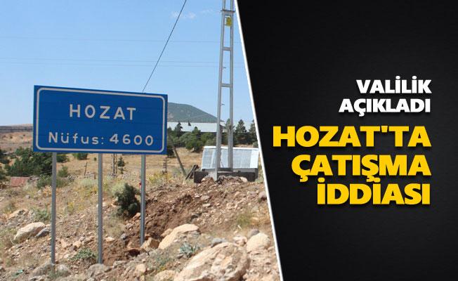 Hozat'ta çatışma iddiasına açıklama geldi