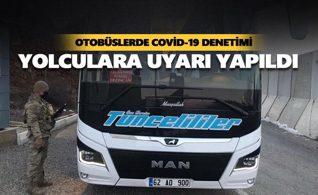 Otobüslerde Covid-19 denetimi