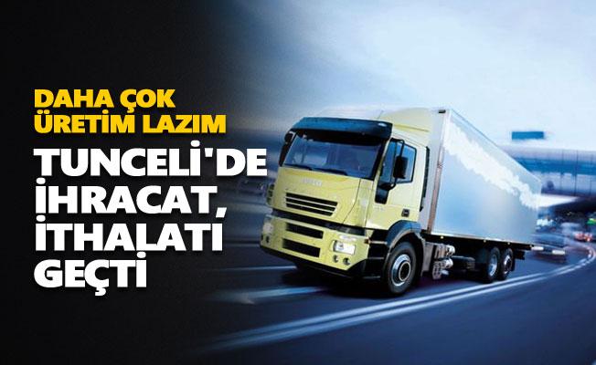 Tunceli'de ihracat, ithalatı geçti