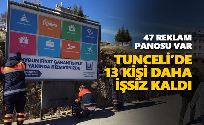 Tunceli'de 13 kişi daha işsiz kaldı