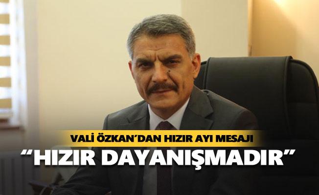 """Vali Özkan: """"Hızır dayanışmadır"""""""