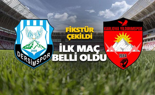 Dersimspor ilk maçı Karlıova Yıldırımspor'la yapacak
