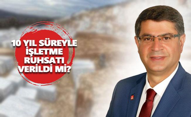 Polat Şaroğlu'ndan Hozat'taki mermer ocağına ilişkin soru önergesi