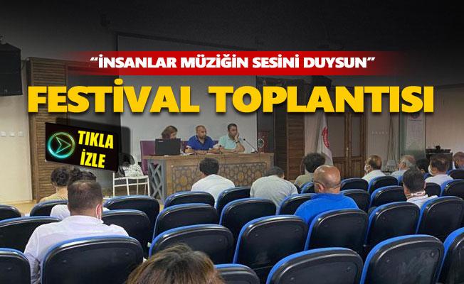 Festival için kurum temsilcileriyle toplantı yapıldı