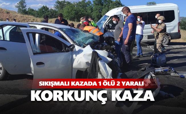 Sıkışmalı kazada 1 kişi hayatını kaybetti
