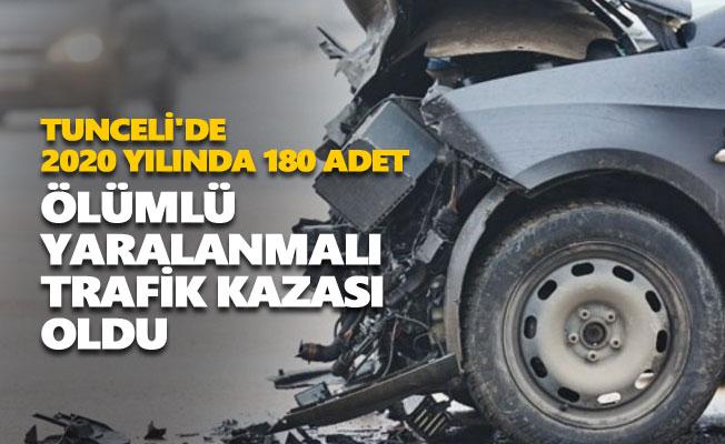 Tunceli'de 2020 yılında 180 adet ölümlü yaralanmalı trafik kazası oldu