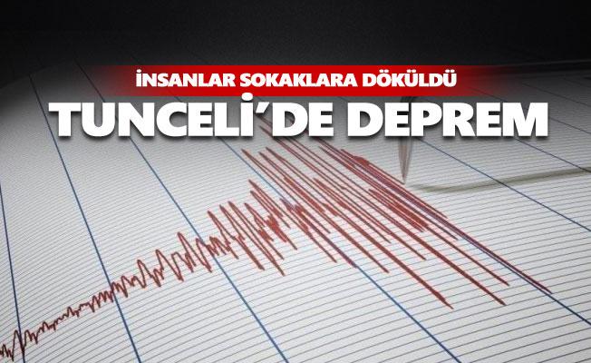 Tunceli'de deprem oldu, insanlar sokaklara döküldü