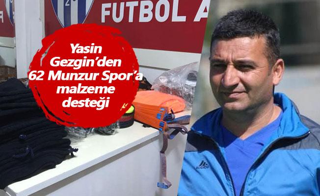 Yasin Gezgin'den 62 Munzur Spor'a malzeme desteği