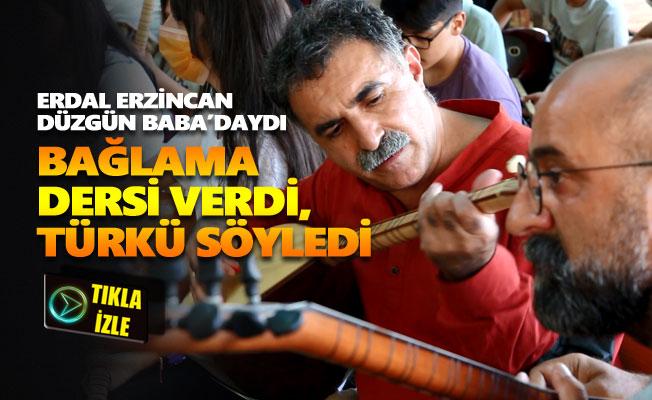 Erdal Erzincan Gezici Bağlama Atölyesi Düzgün Baba'daydı