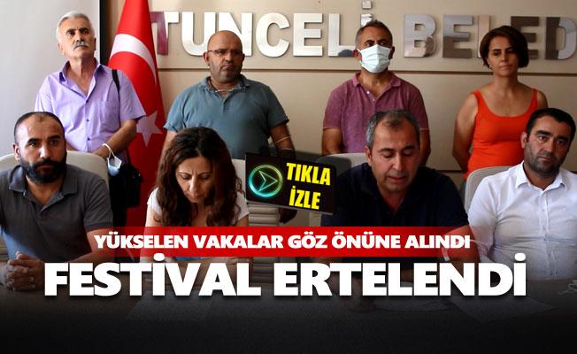 Munzur Kültür ve Doğa Festivali ertelendi
