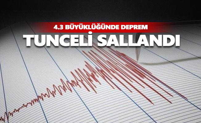 Tunceli'de deprem... Sallandık...