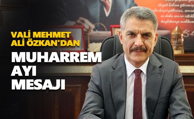Vali Mehmet Ali Özkan'dan Muharrem ayı mesajı
