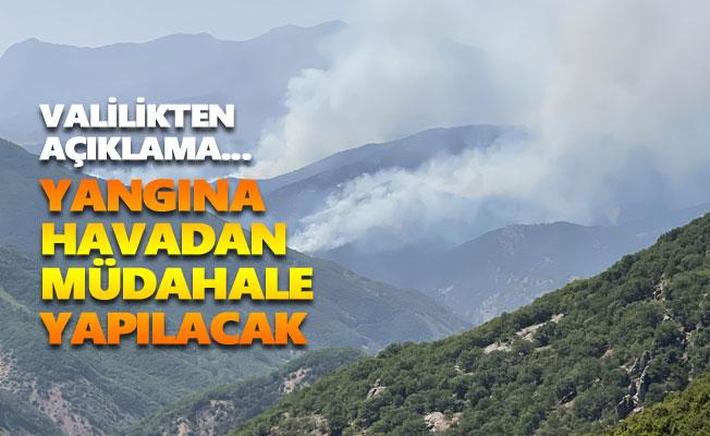 Yangına havadan müdahale yapılacak