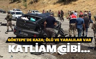 Göktepe'de kaza: 3 ölü, 15 yaralı