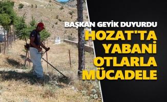 Hozat'ta yabani otlarla mücadele