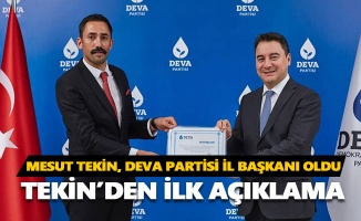 Mesut Tekin, DEVA Partisi İl Başkanı oldu