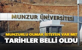 Munzur Üniversitesi yetenek sınavı tarihleri belli oldu