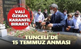 Tunceli'de 15 Temmuz etkinlikleri