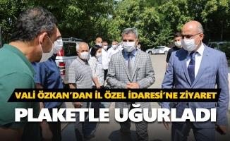 Vali Özkan'dan İl Özel İdaresi'ne ziyaret