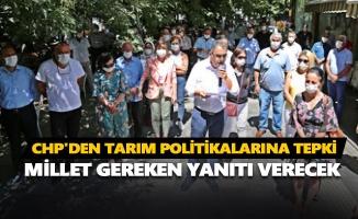 CHP'den hükümetin tarım politikalarına tepki