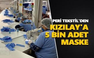Peri Tekstil'den Kızılay'a 5 bin adet maske