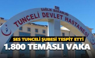 Tunceli'de 1.800 temaslı vaka var