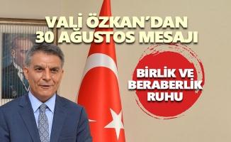 Vali Mehmet Ali Özkan'dan 30 Ağustos mesajı